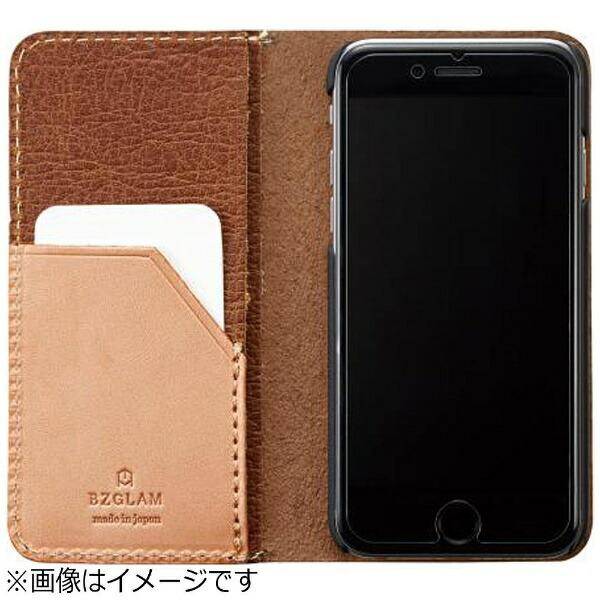 サンクレストSUNCRESTiPhone7用手帳型BZGLAMバッファローレザーカバーキャメルiP7-BZ07