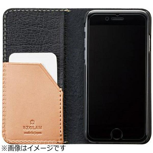 サンクレストSUNCRESTiPhone7用手帳型BZGLAMバッファローレザーカバーブラックiP7-BZ06
