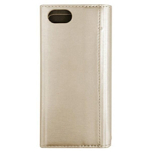 ナカバヤシNakabayashiiPhone7用手帳型ケースPUレザー軽量ゴールドSMC-IP1605GL