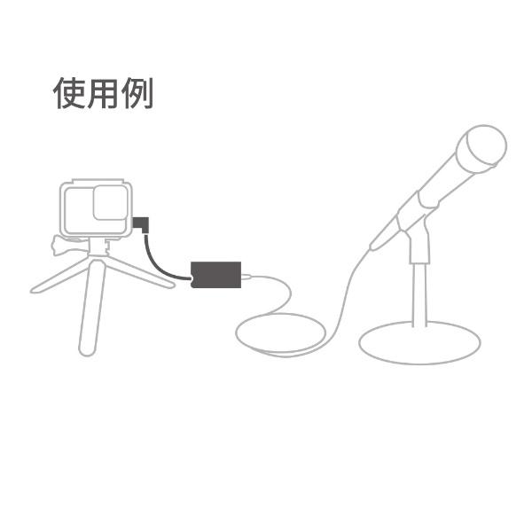 GoProゴープロプロ3.5mmマイクアダプターforHERO5Black、HERO5SessionAAMIC-001[ゴープロアクセサリーマイク音声入力AAMIC001]