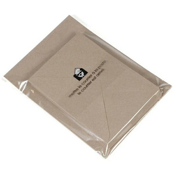 エトランジェetranger[レターセット]EDCA5レターセットBASIS(ベイシス)クラフト(封筒25枚+便箋50枚)LT1-05