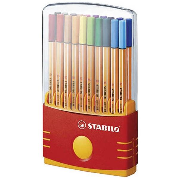 STABILOスタビロ[水性マーカー]STABILOpoint88(ポイント88)20色セットカラーパレード8820-03