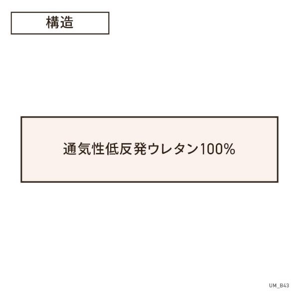 生毛工房UMOKOBO通気性低反発トッパーダブルサイズ(140×200×3.5cm/ベージュ)