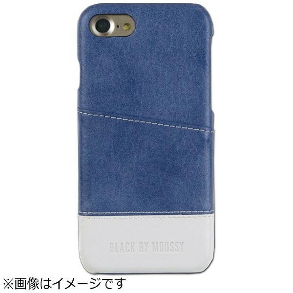 エムディーシーMDCiPhone7用BLACKBYMOUSSYアジャストケースバイカラー・ブルー/ホワイト2016IP-72146