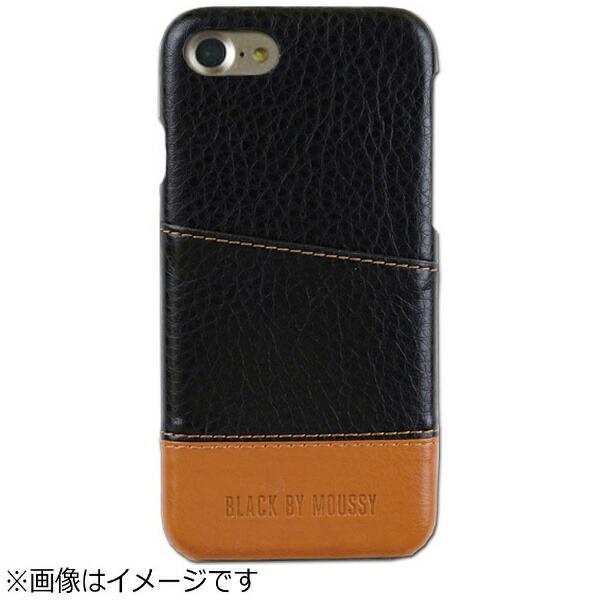 エムディーシーMDCiPhone7用BLACKBYMOUSSYアジャストケースバイカラー・ブラック/ブラウン2016IP-72145