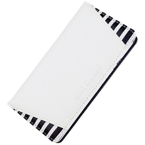 エムディーシーMDCiPhone7用BLACKBYMOUSSY手帳型ケースストライプ・ホワイト2016IP-72142