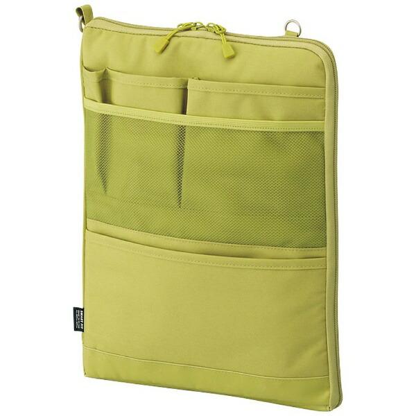 リヒトラブLIHITLAB.タブレットPC対応[〜12インチ]バッグインバッグタテ型A4サイズSMARTFITACTACTA-7683-6イエローグリーン