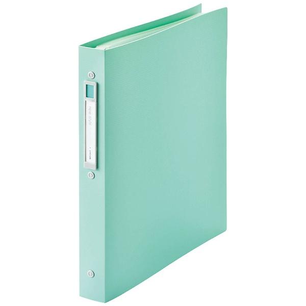 リヒトラブ[ファイル]noie-styleクリヤーブック交換式ライトグリーン(A4タテ型・30穴・20ポケット)N-7683-19