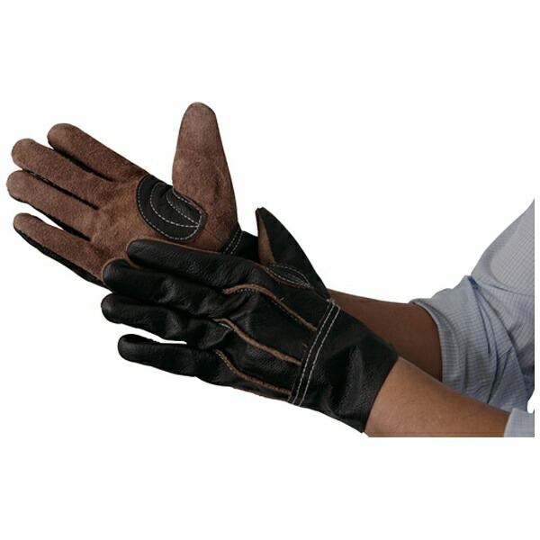 トラスコ中山TRUSCO牛本革製手袋ブラウンLTKBR-L