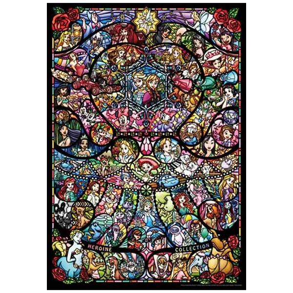 テンヨーピュアホワイトジグソーパズルDP-1000-028ディズニー&ディズニー/ピクサーヒロインコレクションステンドグラス