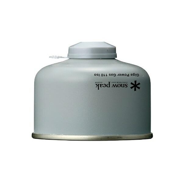 スノーピークsnowpeakLPG(液化イソブタン・液化ブタン)カートリッジギガパワーガス110イソ(NET:110g)GP-110SR