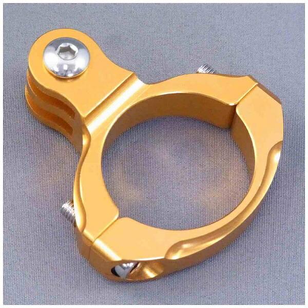 GOBROS.ゴブロス31.8mmハンドルバー・クランプマウント-Standard(ゴールド)GB0106[GB0106]