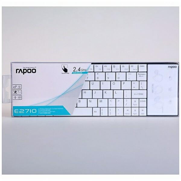 UNIQユニークE2710Wキーボードrapooホワイト[USB/ワイヤレス][E2710W]