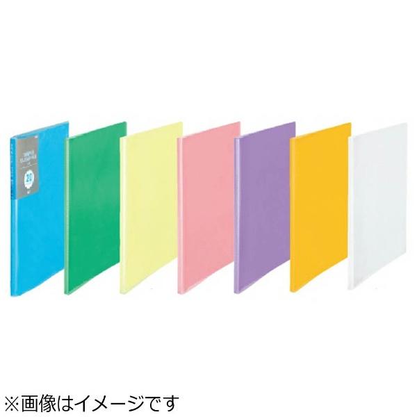 プラスPLUS[ファイル]シンプルクリアーファイルA4-Sグリーン20ポケットFC-220SC