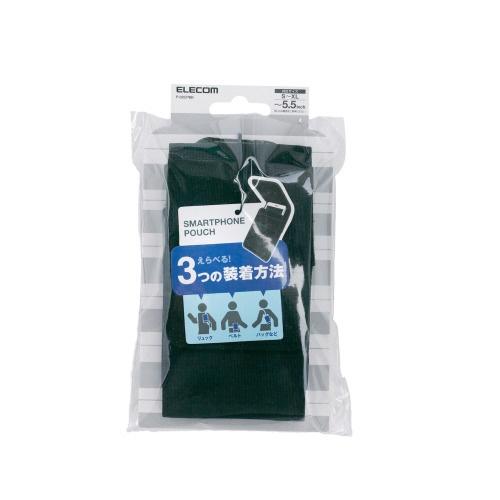 エレコムELECOMスマートフォン用[幅75mm/5.5インチ]キャリングポーチカジュアルブラックP-02CPBK