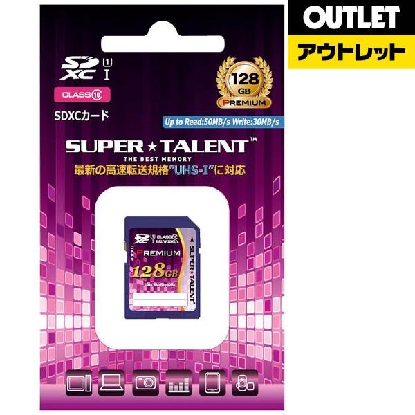 SUPERTALENTスーパータレント【アウトレット品】SDXCカードPremiumシリーズST28SU1P[128GB/Class10]【数量限定品】ST28SU1P【kk9n0d18p】