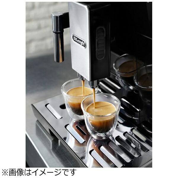 デロンギDelonghi全自動コーヒーマシンエレッタカプチーノトップブラックECAM45760B[全自動/ミル付き][ECAM45760B]