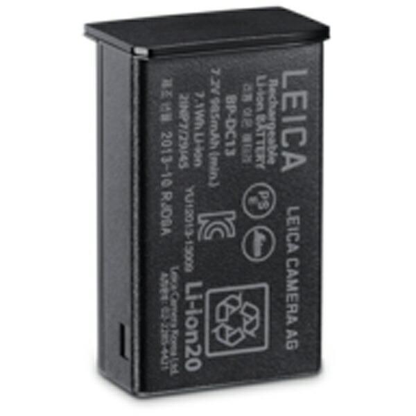 ライカLeica充電式リチウムイオンバッテリー(ブラック)BP-DC1318773[ライカTヨウリチウムイオンバッテリーフ]