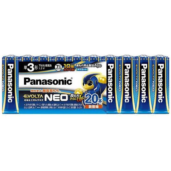 パナソニックPanasonicLR6NJ/20SW単3電池EVOLTANEO(エボルタネオ)[20本/アルカリ][LR6NJ20SW]panasonic