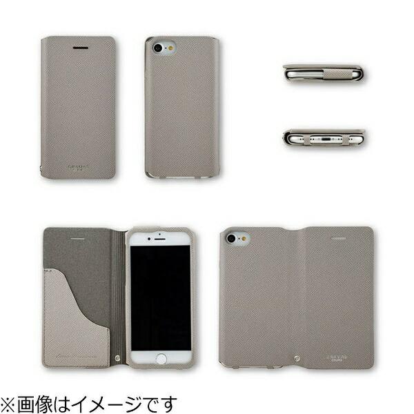 坂本ラヂヲiPhone7Plus用手帳型レザーケースGRAMASCOLORSEUROPassioneLeatherCaseネイビーCLC276PNV