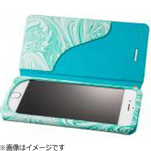 坂本ラヂヲiPhone7Plus用手帳型レザーケースGRAMASFEMMEMabFlapLeatherCaseブルーFLC2116PBL