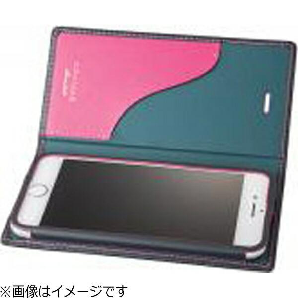 坂本ラヂヲiPhone7用手帳型レザーケースGRAMASFullLeatherCaseLimitedネイビー×ピンクGLC626LNVPK