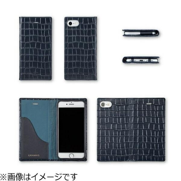 坂本ラヂヲiPhone7Plus用手帳型レザーケースGRAMASCrocoPatternedFullLeatherCaseレッドGLC6146PRD