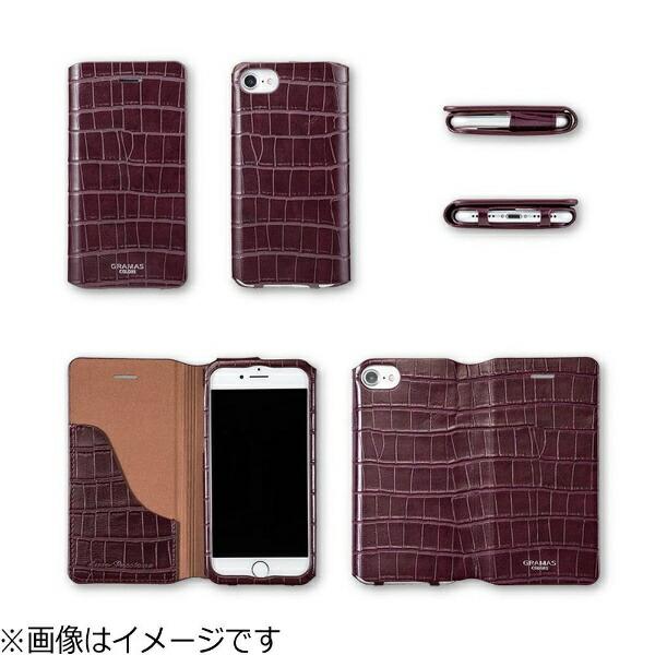 坂本ラヂヲiPhone7Plus用手帳型レザーケースGRAMASCOLORSEUROPassione3LeatherCaseバーガンディCLC2186PBG