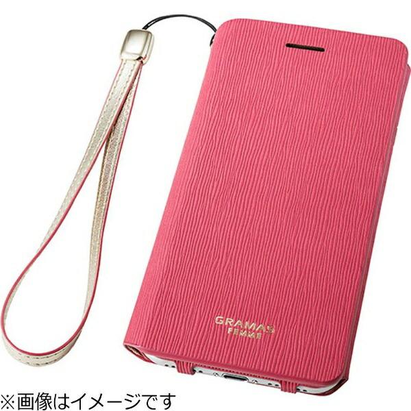 坂本ラヂヲiPhone7Plus用手帳型レザーケースGRAMASFEMMEColoFlapLeatherCaseブラックFLC256PBK