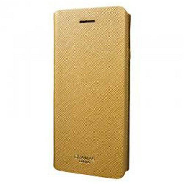 坂本ラヂヲiPhone7Plus用手帳型レザーケースGRAMASCOLORSQuadrifoglioLeatherCaseゴールドCLC276PGL
