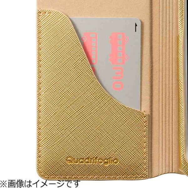 坂本ラヂヲiPhone7Plus用手帳型レザーケースGRAMASCOLORSQuadrifoglioLeatherCaseシルバーCLC276PSL
