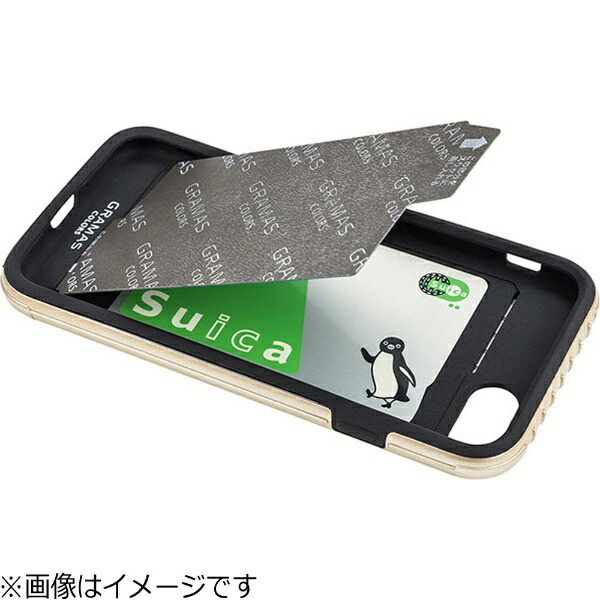 坂本ラヂヲiPhone7Plus用GRAMASCOLORSRibHybridcaseグレーCHC446PGY