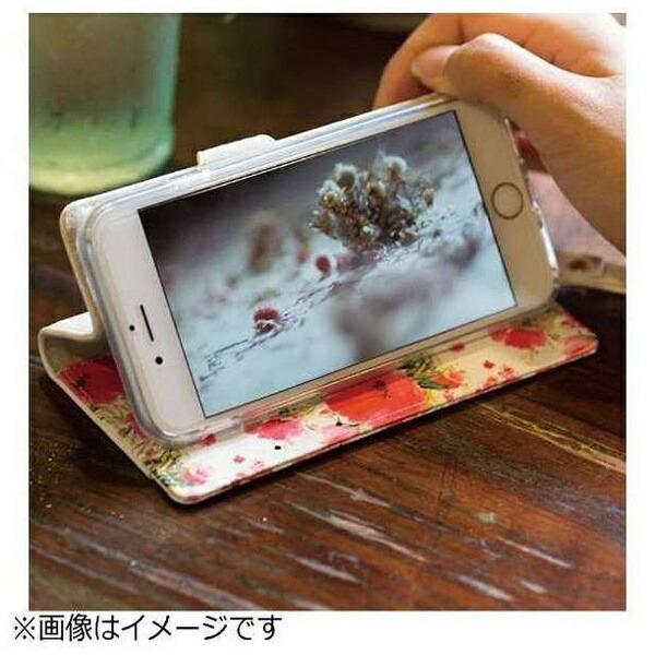 ナチュラルデザインNATURALdesignスマートフォン用[幅74mm]FLEUR手帳型ケースピンクMLFLE05