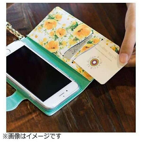 ナチュラルデザインNATURALdesignスマートフォン用[幅74mm]FLEUR手帳型ケースブラックMLFLE01