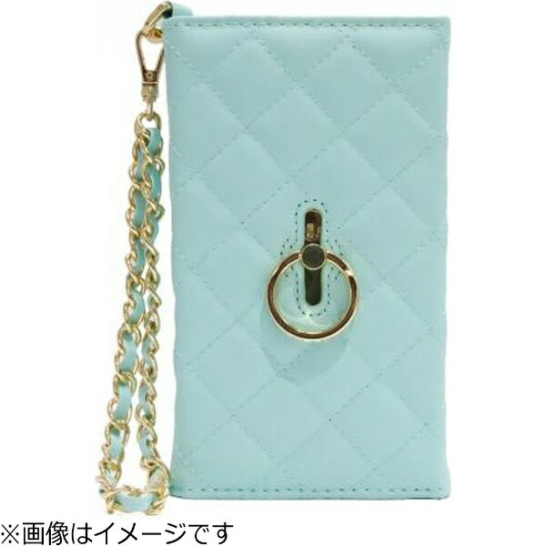 FOXスマートフォン用[幅75mm/5インチ]Multibookcase+Cristalringstandブルー/NormalTUTTIFRUTTITU-MUCR-BLN