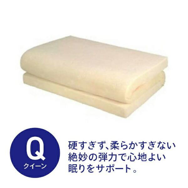 生毛工房UMOKOBO通気性低反発マットレスクィーンサイズ(170×200×8cm/ベージュ)【日本製】