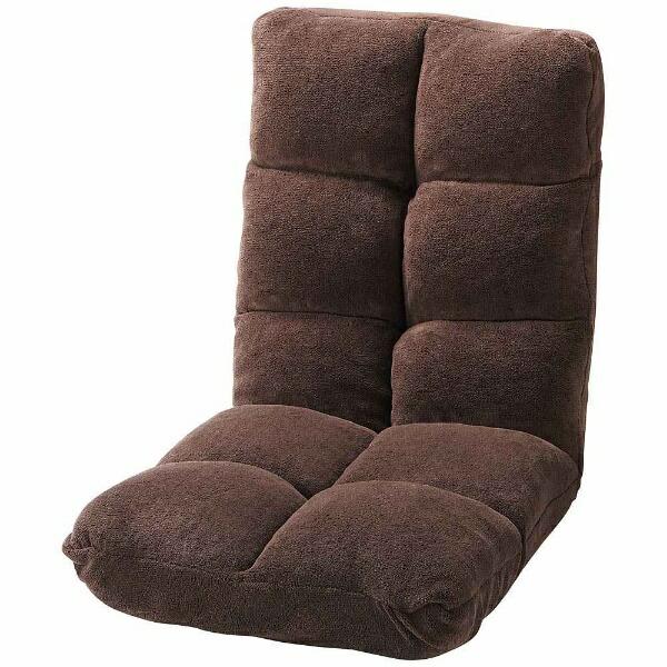 東谷AZUMAYA【座椅子】もこもこリクライナーFKC-006BR(W42×D60-102×H56×SH14cm)