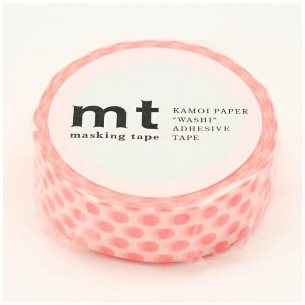 カモ井加工紙KAMOImtマスキングテープmt1Pドット・ショッキングレッドMT01D358