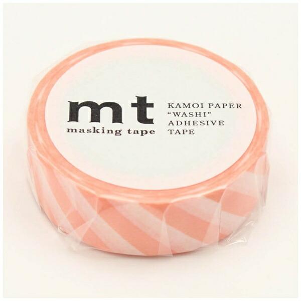 カモ井加工紙KAMOImtマスキングテープmt1Pストライプ・サーモンピンクMT01D370