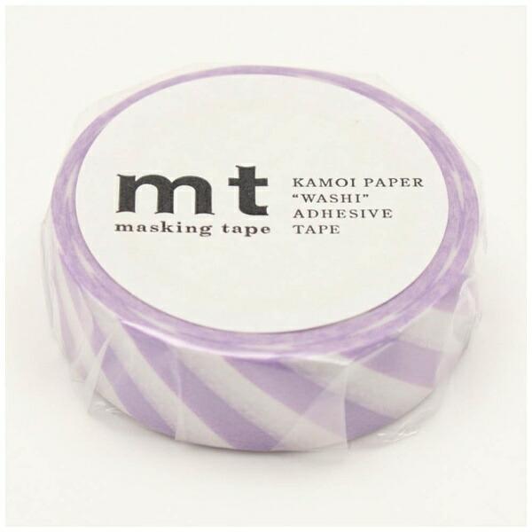 カモ井加工紙KAMOImtマスキングテープmt1Pストライプ・ライラックMT01D376
