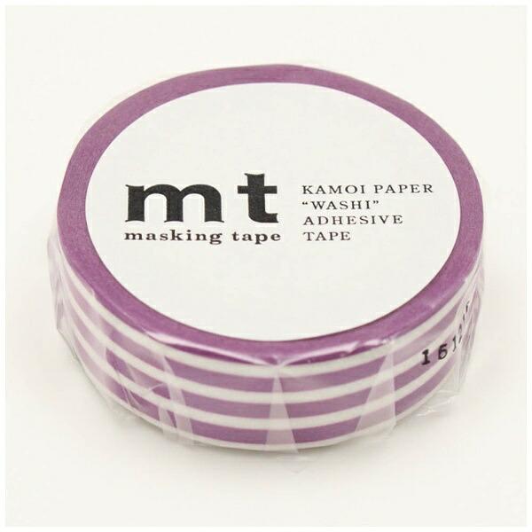 カモ井加工紙KAMOImtマスキングテープmt1Pボーダー・ぶどうMT01D387