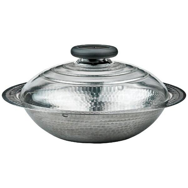 ハリオHARIO《IH対応》フタガガラスのIH対応ステンレス鍋26雪平MIS-26(2〜3人用)[MIS26]