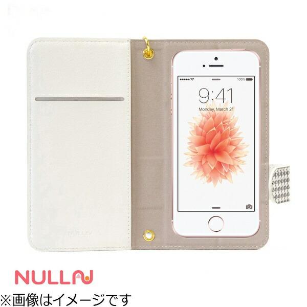 BELEXビーレックスiPhoneSE(第1世代)4インチ用NULLCHIDORISTRIPECASEホワイトBLNL-002-WHスタンド機能ポケット付+ハンドストラップ