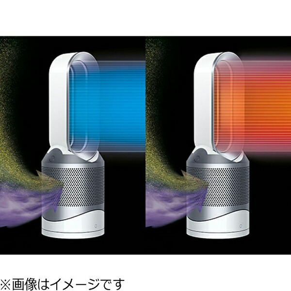 ダイソンdyson【DCモーター搭載】リモコン・空気清浄機能付ファンヒーター「DysonPureHot+Cool(ダイソンピュアホット+クール)Link」(〜8畳)HP03WSホワイト/シルバー[扇風機HP03WS]