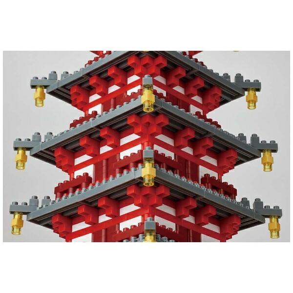 カワダKAWADAナノブロックNB-031五重塔デラックスエディション