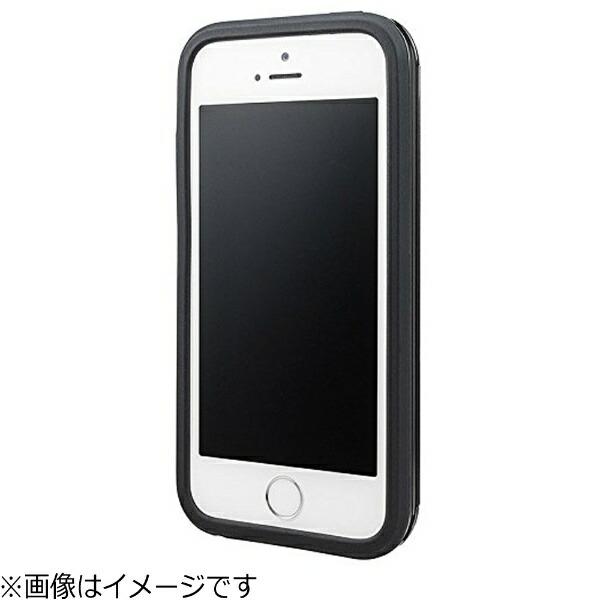 坂本ラヂヲiPhoneSE(第1世代)4インチ/5c/5s/5用COLORSRibHybridCaseブラックCHC416BKポケット付