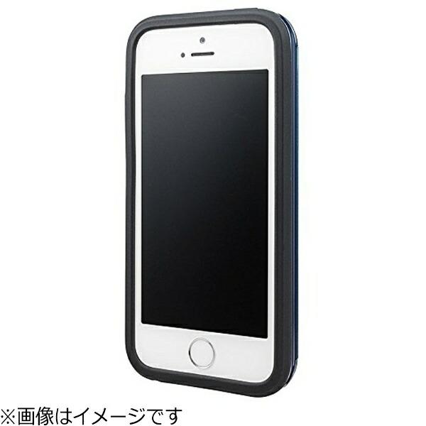 坂本ラヂヲiPhoneSE(第1世代)4インチ/5c/5s/5用COLORSRibHybridCaseネイビーCHC416NVポケット付