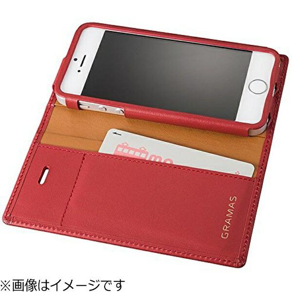 坂本ラヂヲiPhoneSE(第1世代)4インチ/5s/5用レザーケースFullLeatherCaseレッドGLC606RDポケット付