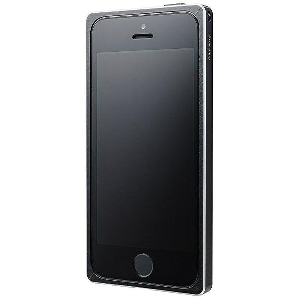 坂本ラヂヲiPhoneSE(第1世代)4インチ/5s/5用StraightMetalBumperブラックGMB506BKストラップホール付