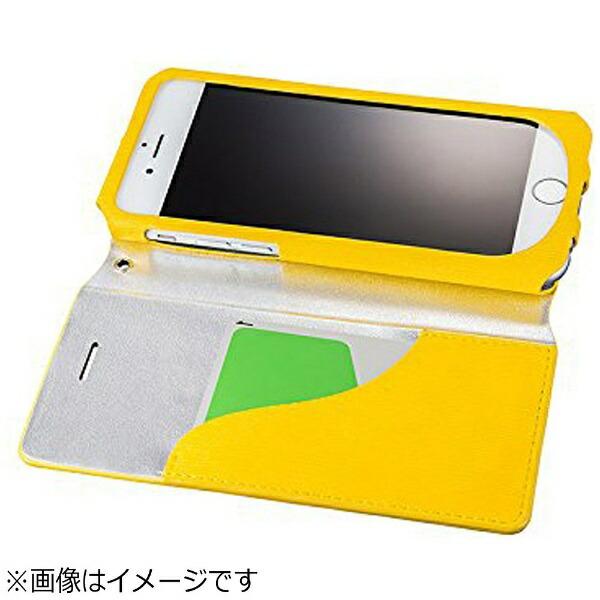 坂本ラヂヲiPhone6s/6用手帳型レザーケースGRAMASFEMMEColoFlapLeatherCaseイエローFLC2126YL
